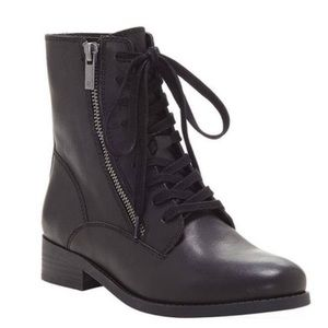 LUCKY BRAND Hildran black lace-up combat boot